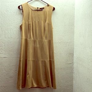 Tan Suede Dress